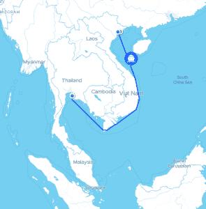 เส้นทางขนส่งทางเรือ ไปเวียดนาม